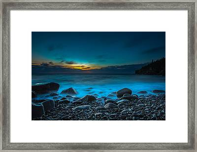 Night On Acadia Framed Print by Laurie Martin