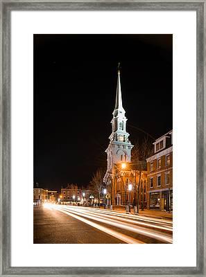 Night On Congress Street Framed Print