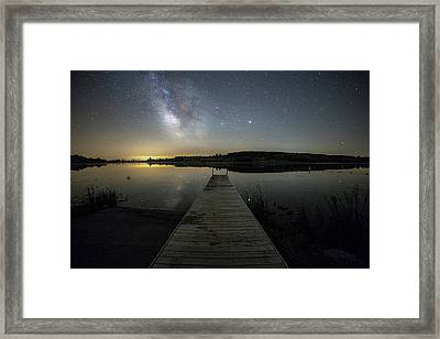 Night On The Dock Framed Print by Aaron J Groen