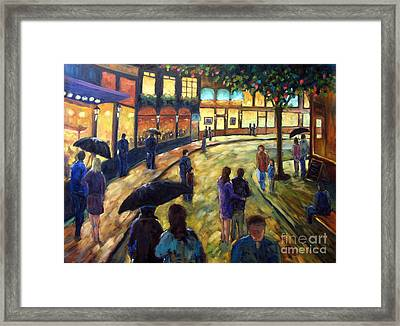 Night On The Town Framed Print by Richard T Pranke