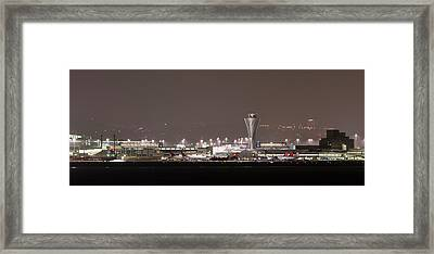 Framed Print featuring the photograph Night Operations by Alex Lapidus
