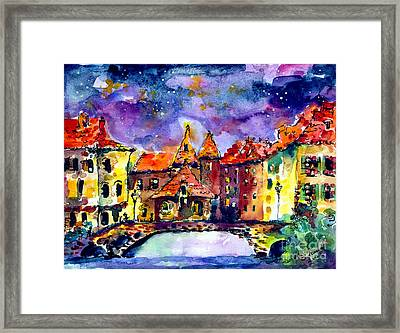 Night Over Annecy Framed Print