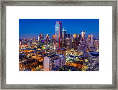 Night Over Dallas Framed Print by Inge Johnsson
