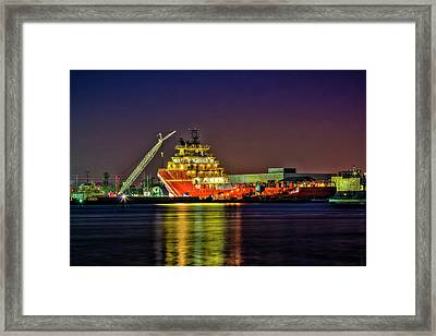 Night Overhaul Framed Print