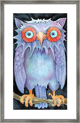 Framed Print featuring the painting Night Owl by Lora Serra