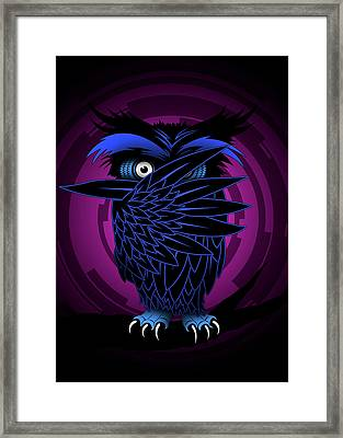 Night Owl Framed Print by Pharaoh Laboa