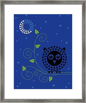 Night Owl Framed Print by Ron Magnes