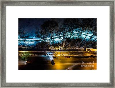 Framed Print featuring the photograph Central Park by M G Whittingham