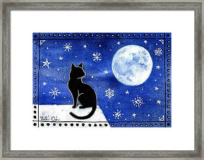 Night Patrol At Wintertime Framed Print