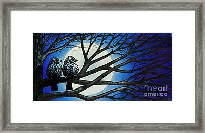 Framed Print featuring the painting Night Perch by Michael Frank