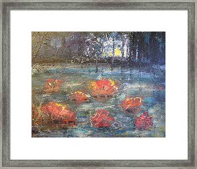 Night Pond Framed Print