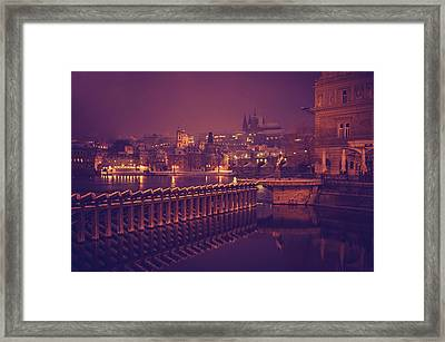 Night Prague Framed Print by Jenny Rainbow