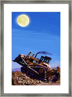 Night Push Framed Print