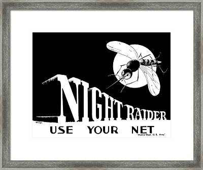 Night Raider Ww2 Malaria Poster Framed Print by War Is Hell Store