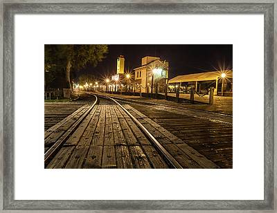 Night Rails Framed Print by Charles Garcia