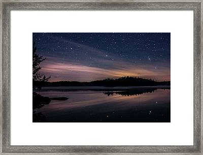 Night Reflections On Pharaoh Lake Framed Print