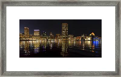 Night Reflections - Pano Framed Print