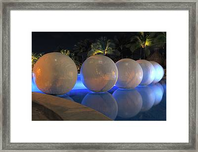Framed Print featuring the photograph Night Reflections by Shane Bechler