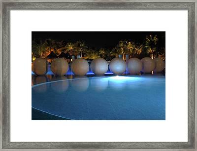 Night Resort Framed Print