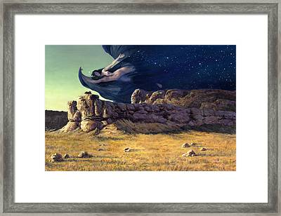 Night Framed Print by Richard Hescox
