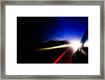 Night Ride Framed Print by Charles Saulters II