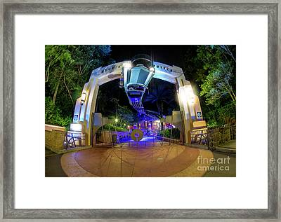 Night Ride On The Rock And Roll Coaster Framed Print
