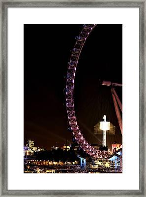 Night Rides In London Framed Print