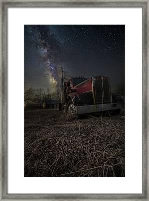 Night Rig Framed Print by Aaron J Groen