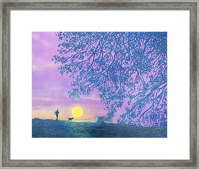 Framed Print featuring the painting Night Runner by Susan DeLain