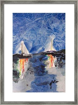 Night Sail  Framed Print