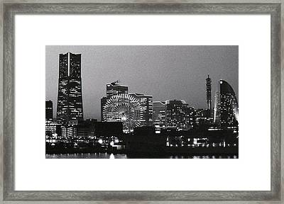 Night Scene Of Yokohama Framed Print