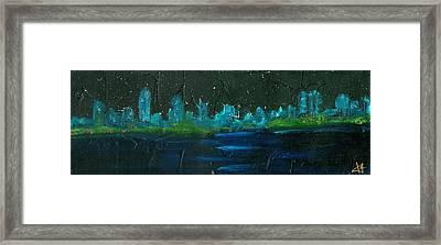 Night Shore Framed Print by Jorge Delara