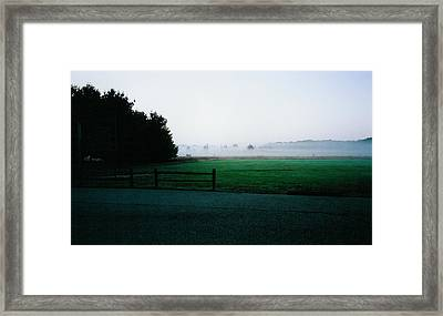 Night Sinks Into The Earth Framed Print by Tom Hefko