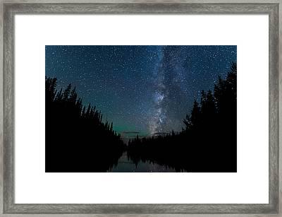 Night Skies Over Lake Irene Framed Print