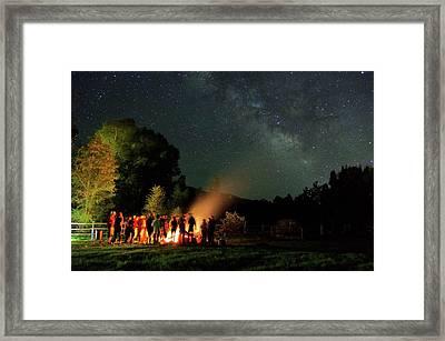 Night Sky Fire Framed Print by Matt Helm
