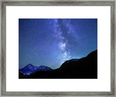 Night Sky In David Thomson Country Framed Print