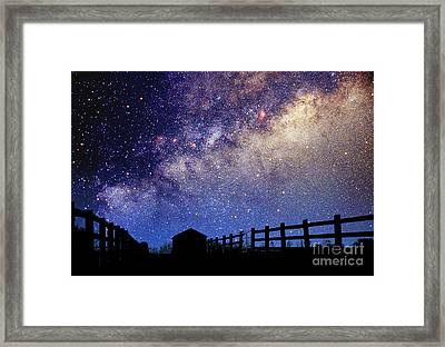 Night Sky Framed Print by Larry Landolfi and Photo Researchers