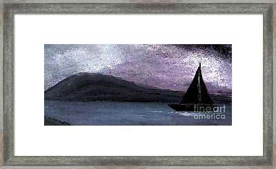 Night Sky Framed Print by Mimo Krouzian