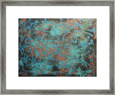 night sky on Saturn Framed Print by Gregory Young