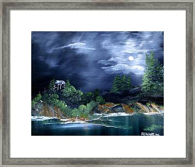 Night Sky Framed Print by Rebecca  Fitchett