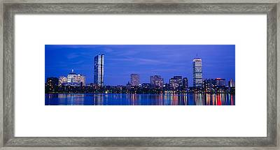 Night, Skyline, Back Bay, Boston Framed Print by Panoramic Images