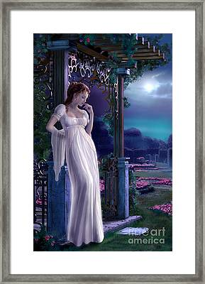 Night Framed Print by Sonia Verdu