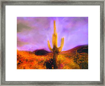 Framed Print featuring the painting Night Star by FeatherStone Studio Julie A Miller