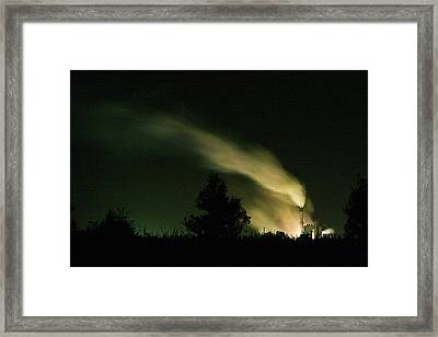 Night Steaming Framed Print by Odille Esmonde-Morgan