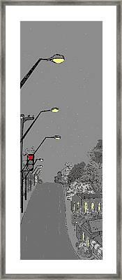 Night Streetscape Framed Print by Bethwyn Mills