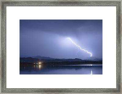 Night Strike Framed Print