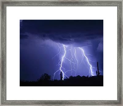 Night Striking Down Framed Print