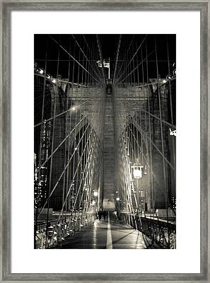 Night Stroll Framed Print by Sara Hudock