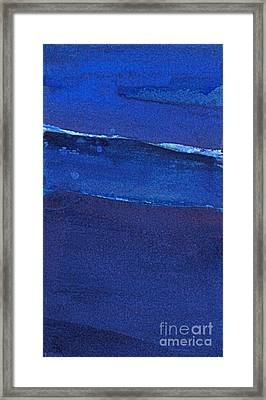 Framed Print featuring the painting Night Surf by Diane Ursin