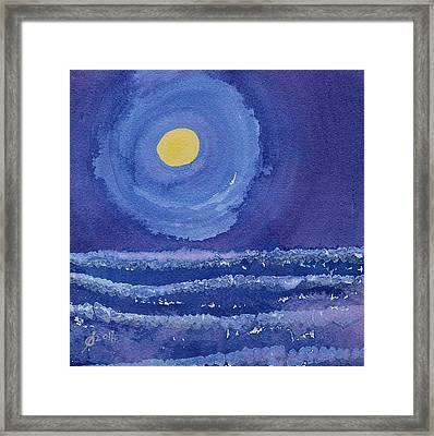 Night Surf Original Painting Framed Print